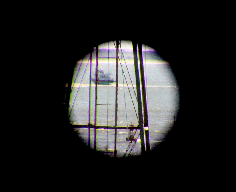 Ferry through the periscope
